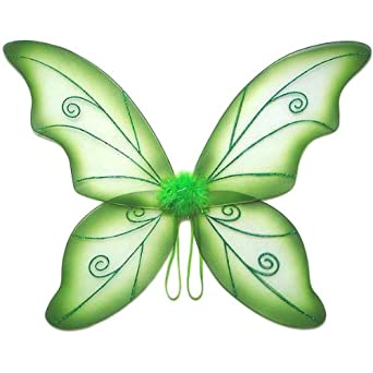 Large Green Wild Fairy Wings (34 in)