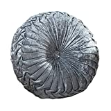 Zituop Home Decorative Round Pumpkin Throw Pillows, 13.8-inch (grey)