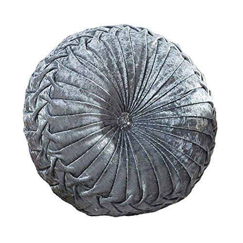(Zituop Home Decorative Round Pumpkin Throw Pillows, 13.8-inch (grey))