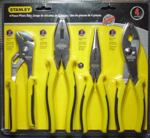 Stanley 4 piece Pliers Set