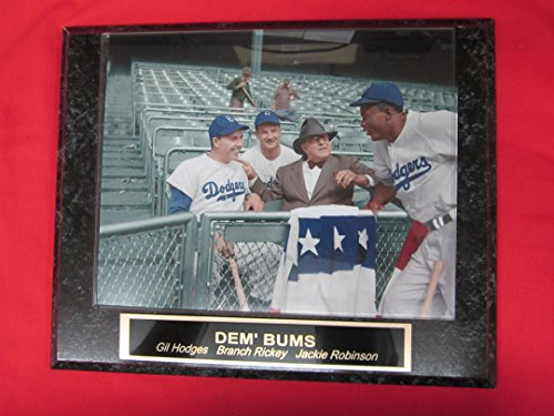 - Gil Hodges Jackie Robinson Branch Rickey Brooklyn Dodgers Collector Plaque w/8x10 COLORIZED Photo