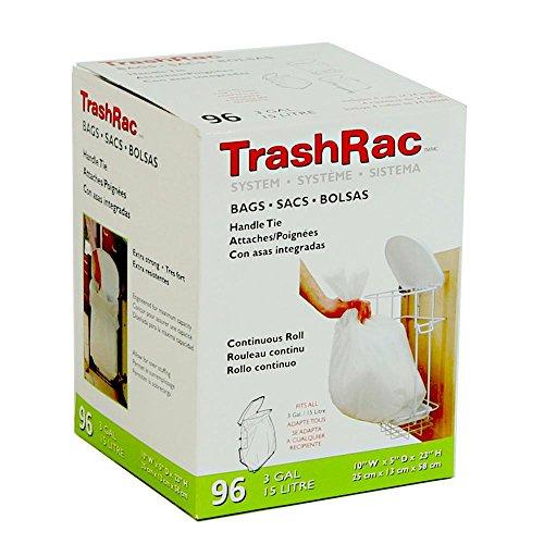 Sunbeam Trashrac 87096 3 gal Trash Bags44; Pack of 96