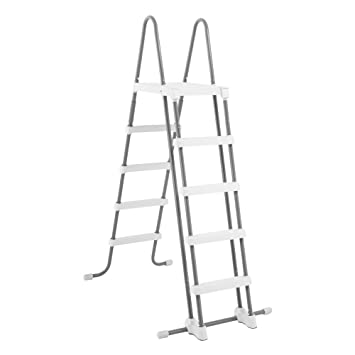 Intex 28063 Escalera con plataforma para piscinas de 132 cm: Amazon.es: Jardín