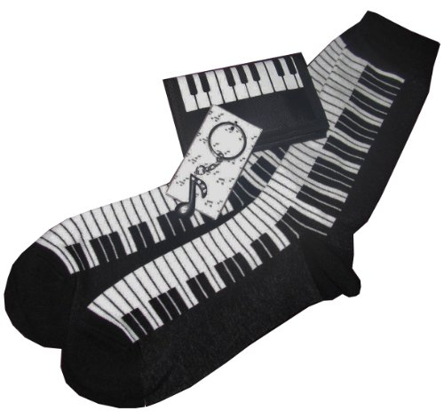 Mens Music Gift Sets: Neck Ties, Lapel Pin/Tie Tacks, Socks, Wallets, Suspenders (Socks/Wallet/Keychain)