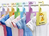 Baby Closet Dividers - Safari Animals | Baby Clothes Organizers | Pack of 7 Hangers (S)