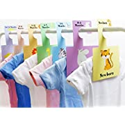 Baby Closet Dividers - Safari Animals   Baby Clothes Organizers   Pack of 7 Hangers (S)