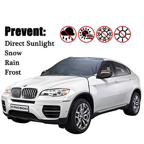 (Car Snow Cover Windshield Frost Sun and Ice Protect Mat Waterproof Window Freeze Prevention Covers SUV Removal Wiper Audi Guard Outdoor for Automobiles)