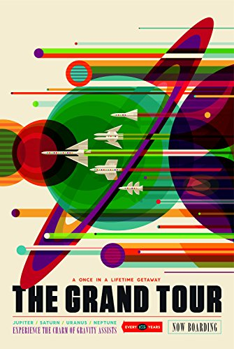 Astronomy Travel Poster - The Grand Tour - A Once in a Lifetime Getaway