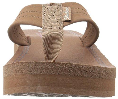 Zehentrenner Vinyasa Skechers Brown Ray weiß nbsp;Sun Damen Leather 4I45qxFO