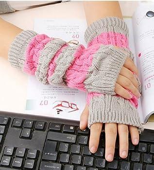 Brownylife Shop - Fashion Skin Care Arm Mitten Long Sleeve Gloves Women's Braided Knit Crochet Wool Arm Warmer Gloves