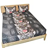 Junhome Sheets Queen Size,Leopard Sheets Set