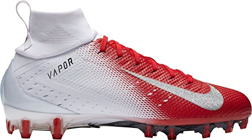 - NIKE Men's Vapor Untouchable 3 Pro Football Cleats (11, White/Red)