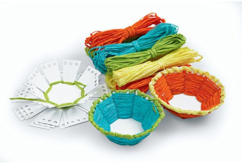 Colorations Basket Weaving Craft - Kit for 12 (Item # WEAVEME)
