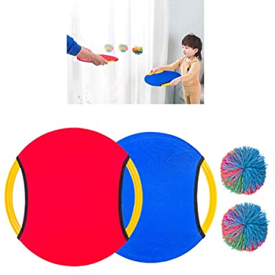 YWXKA Colorful Stringy Play Balls, Monkey Stringy Balls Sensory Fidget, Fun Toy Stress Balls, with 2 Racket and 2 Balls, for Anxiety Relief: Sports & Outdoors