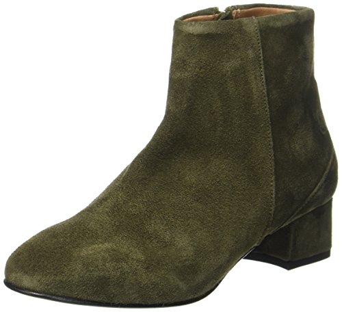 Selected Femme Sfbecky Suede Boot, Bottes Vert (dark Green)