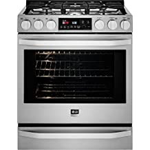 LG Studio LSSG3016ST Slide-in Gas Range with Sealed Burner Cooktop, 6.3 cu. ft. Primary Oven Capacity, in Stainless Steel
