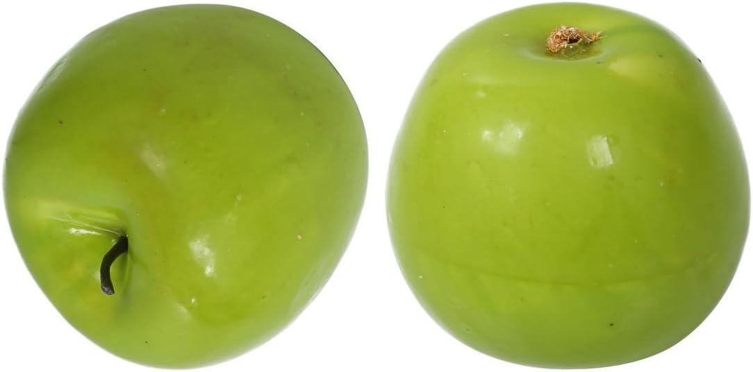 ACAMPTAR R 12pcs decoratifs Grandes rtificiels Fau Fruits Pomme Vert en Plastique Decorations pour Maison Part