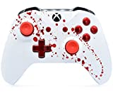 ''Bloody Splatter'' Xbox One S Rapid Fire Custom Modded Controller 40 Mods for All Major Shooter Games, Auto Aim, Quick Scope, Auto Run, Sniper Breath, Jump Shot, Active Reload & More