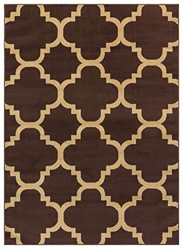 Princess Collection Moroccan Trellis Lattice Area Rug, 5' 2