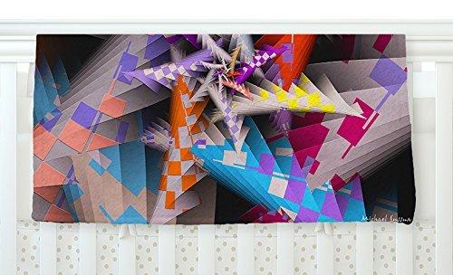 KESS InHouse Michael Sussna Sticker Thicket Multicolor Fleece Baby Blanket 40 x 30 [並行輸入品]   B077ZRVS69