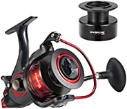 Piscifun Carnivore X Baitfeeder Spinning Reel with A Spare Spool 4.3:1-5.1:1 Shielded Stainless Steel BB - Car