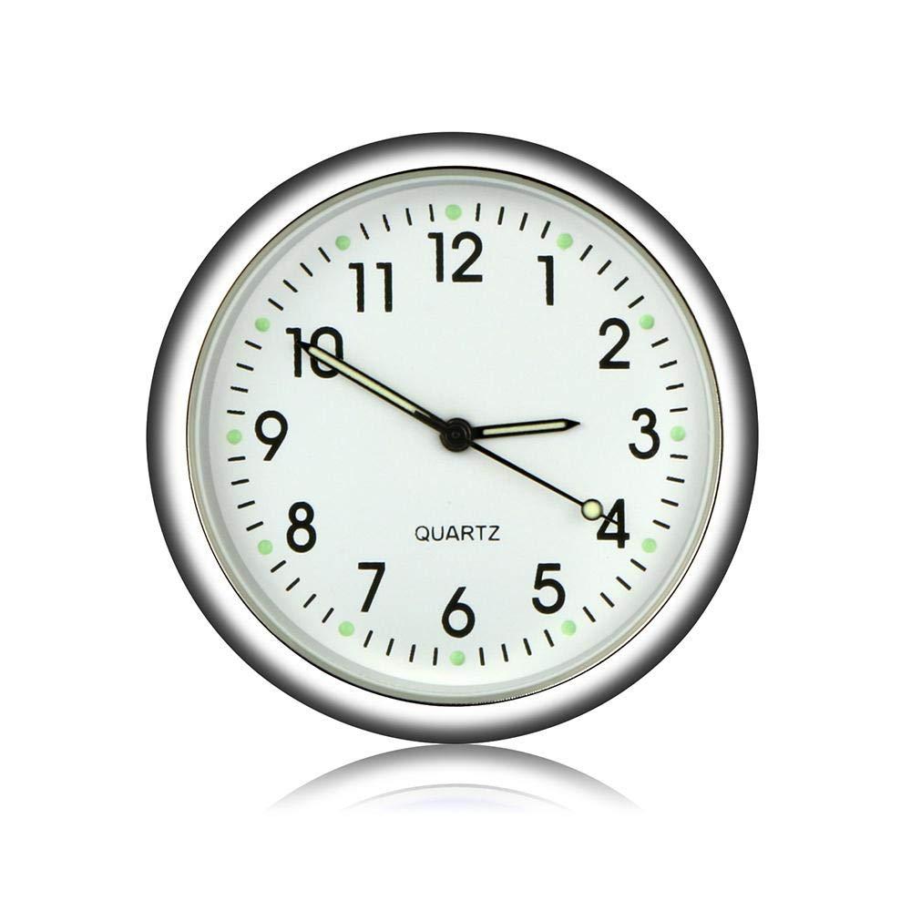 Universal Car Air Vent Quartz Clock Automobiles Interior Decoration Stick-On Clock Ornaments for Office Cars SUV MPV. MOGOI Car Dashboard Clock