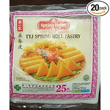 Amazon Com Spring Roll Wrappers 8 Square 500 Sheets 12 Oz Pack Of 20 Grocery Gourmet Food