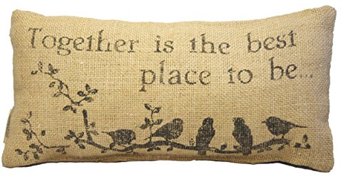 Small Burlap Together Country Pillow by The Country House Collection