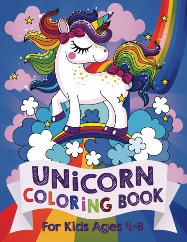 Unicorn Coloring Book: For Kids Ages 4-8 (US Edition) cover