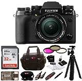 Fujifilm X-T2 Mirrorless Digital Camera w/ 18-55mm Lens + Focus Memory Card & Gadget Bag Bundle (32GB)