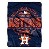 "MLB Houston Astros ""Structure"" Micro-Raschel Throw, Orange, 46 x 60-Inch"