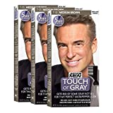 touch Just For Men Touch Of Gray Men's Hair Color, Medium Brown (Pack of 3)