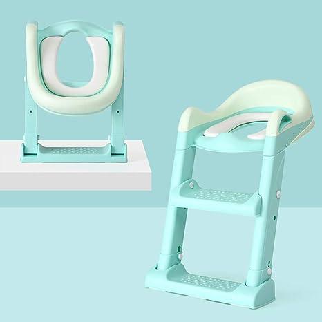 LVTTOU Asiento de Entrenamiento para IR al baño, baño para niños Escalera de baño para bebés niña niño pequeño Asiento de Inodoro arandela para Asiento de bebé Aumentar el Orinal,Azul: Amazon.es: Deportes