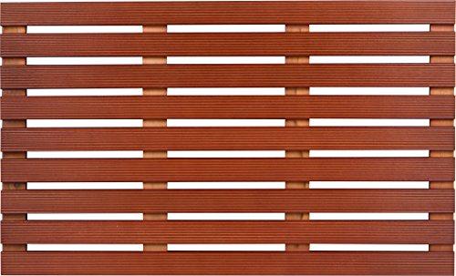 31.5'' Solid Teak Wood Non Slip Spa Shower or Door Mat by Trademark Innovations by Trademark Innovations (Image #1)