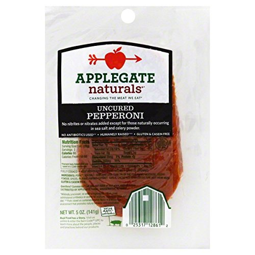 Applegate Natural Uncured Pepperoni, 5 Ounce (Pack of 12)