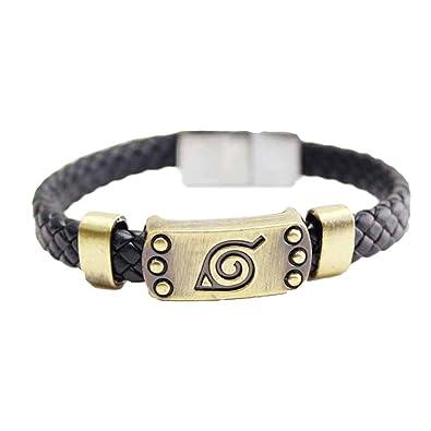 Ninja pulsera símbolo de la hoja de cosplay