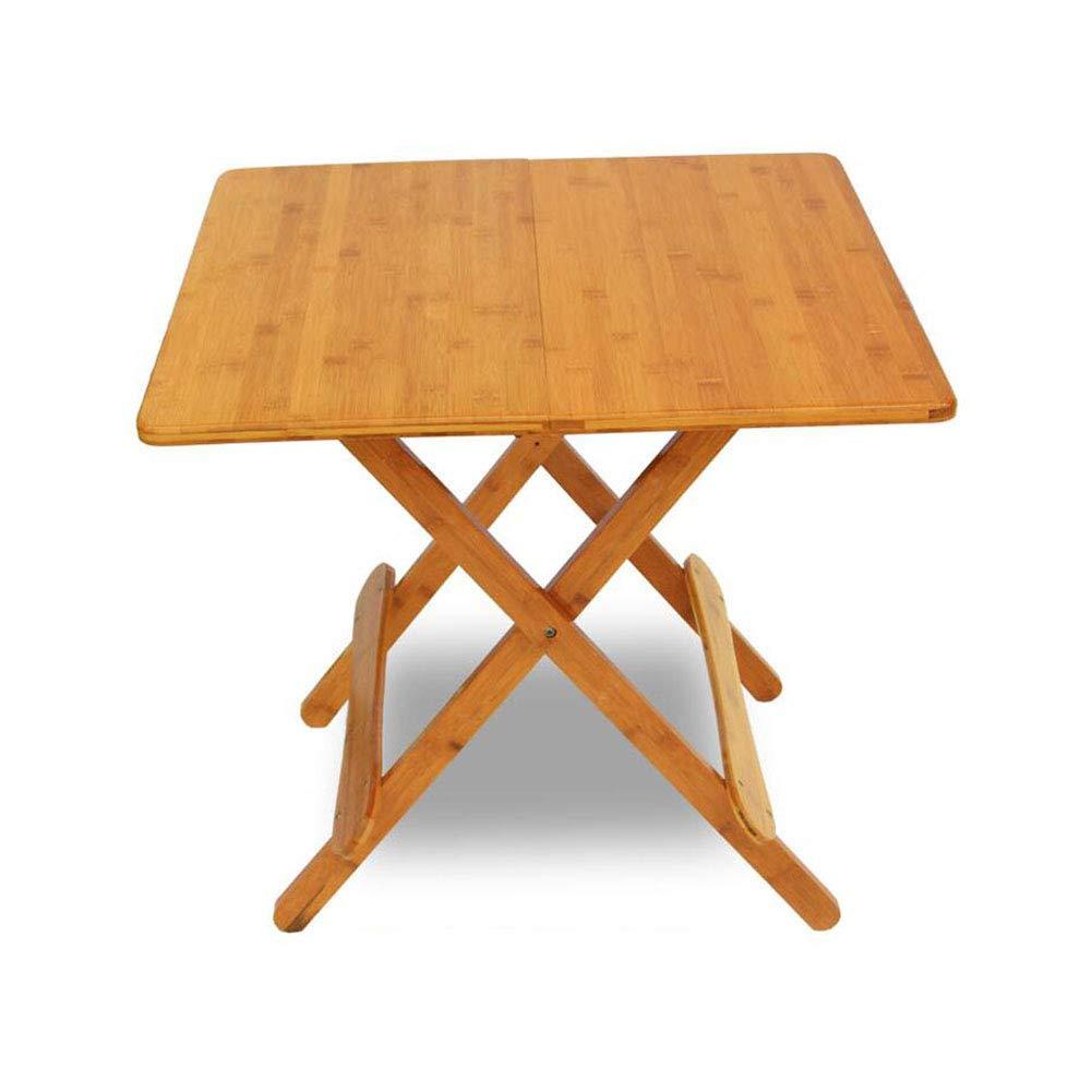 WSWJJXB Tavolo Pieghevole in bambù Pieghevole Tavolo da Pranzo Tavolo da Pranzo all'aperto Piccolo Portatile Tavolo Quadrato per Bambini