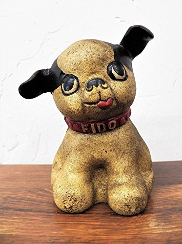 Terrier Antique (Small Antique Style 4.5 inch Cast Iron Boston Terrier Fido Dog Bank Vintage Hubley-Style)