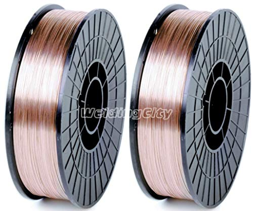 "WeldingCity 2 Rolls of ER70S-6 ER70S6 Mild Steel MIG Welding Wire 11-Lb Spool 0.030"" (0.8mm)"