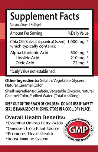 Organic chia seed oil - CHIA SEED OIL 2000 - brain booster (6 bottles) by Health Solution Prime (Image #1)
