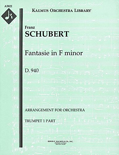 Fantasie in F minor, D.940 (Arrangement for orchestra): Trumpet 1 and 2 parts (Qty 2 each) [A5822] (Schubert Fantasie In F Minor Sheet Music)
