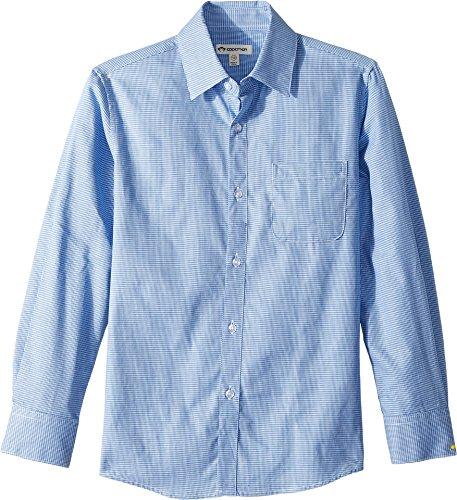 Appaman Kids Baby Boy's The Standard Suit Shirt (Toddler/Little Kids/Big Kids) Blue Houndstooth 4 US Toddler - Houndstooth Woven Shirt