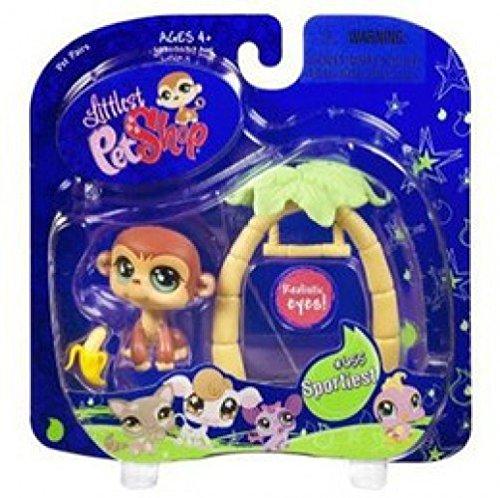 Littlest Pet Shop Pet Pairs - Sportiest 655 - Monkey with Swing (Littlest Pet Shop Sportiest)