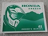 Original 2001 Honda XR650R Owners Manual XR 650 R in good condition