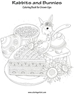 Rabbits And Bunnies Coloring Book For Grown Ups 1