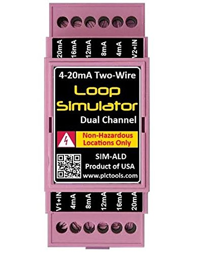 Analog 4-20mA Current Loop Simulator Dual Channel DIN Rail Mounted