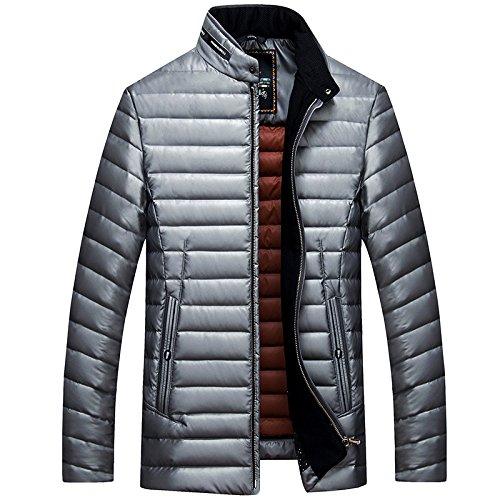 Collare Maschile Grigia Casuale Luotianlang Bianco Il Basso Inverno Giacca Qualità Moda Cappotto Verso ZRq8xp
