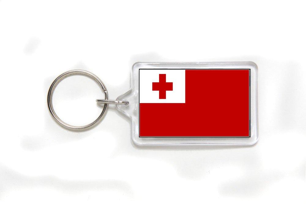 Tonga Tongan Flag Double Sided Acrylic Key Ring Small