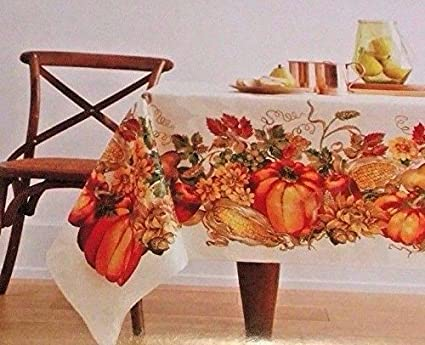 Amazon.com: JCPenney Home Harvest Pumpkin Tablecloth-60 in ...