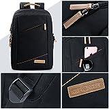 Camera Backpack, K&F Concept Fashion DSLR Camera Bag Waterproof Travel Bag Compatible with Digital DSLR Cameras Lenses and Accessories (Black)
